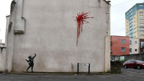 Banksy valentines day mural